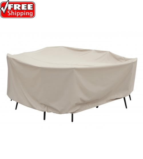 """Treasure Garden Protective Furniture Cover - 60"""" Round Table and Chairs w/8 ties, elastic & spring cinch lock (no hole)"""