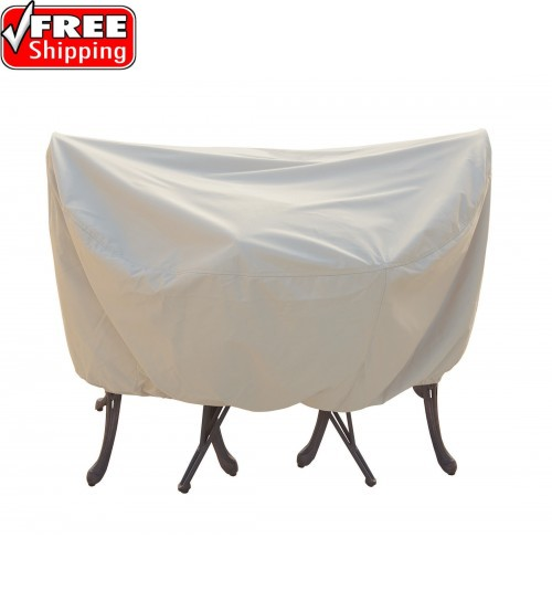 """Treasure Garden Protective Furniture Cover - 36"""" Bistro/Cafe Table and Chairs w/4 ties, elastic & spring cinch lock (no hole)"""