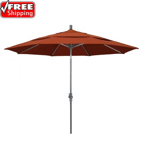 Golden State 11' Round  Collar Tilt Umbrella - Frame only