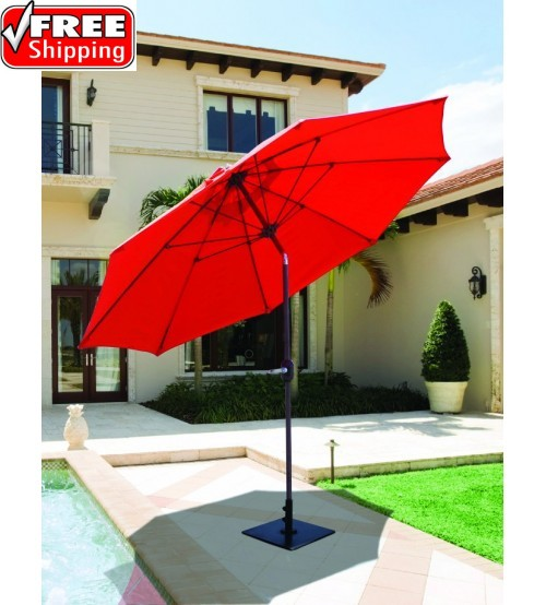 Galtech 636   9 FT Manual Tilt Patio Umbrella ...