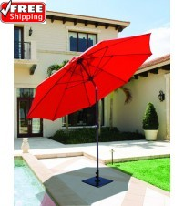 Galtech 636 9 Ft Manual Tilt Patio Umbrella Frame Only