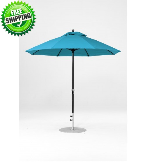 9 FT Commercial Market Umbrella with Crank, No Tilt