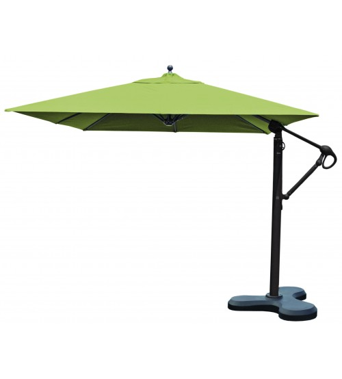 Galtech 897 10x10 Ft Square Cantilever Umbrella W Roller Base