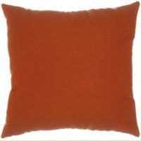 "Sunbrella 18""x18"" Square Throw Pillow - Canvas Brick"
