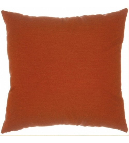 "Sunbrella 18""x18"" Square Throw Pillow - Canvas Brick"