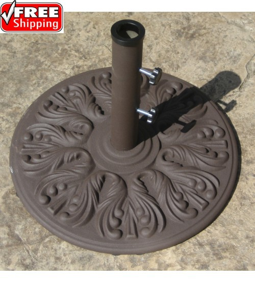 Galtech 75 LBS Cast Iron Umbrella Base