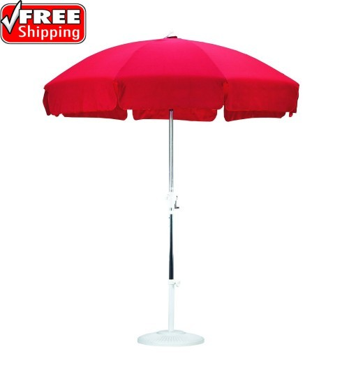 Sunline 7u0027 Patio Umbrella With Valance   Olefin ...