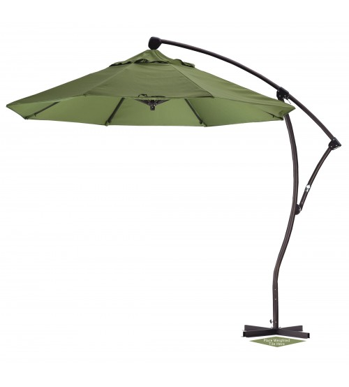 9' Round Offset Patio Umbrella - Sunbrella