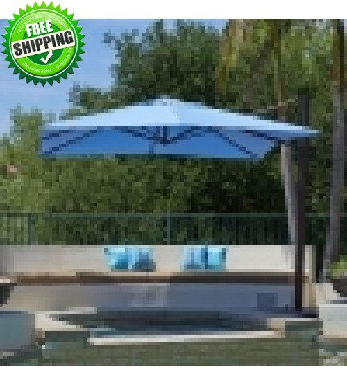 California Umbrella 10x10 Square Cantilever Umbrella w/ Base