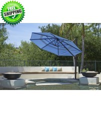 California Umbrella 11' Octagon Cantilever Umbrella