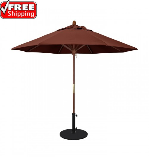 Grove Series 9' Octagon Wood Umbrella - FRAME ONLY