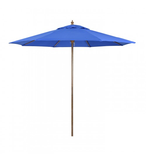 Sunline 9' Wood Look Market Umbrella