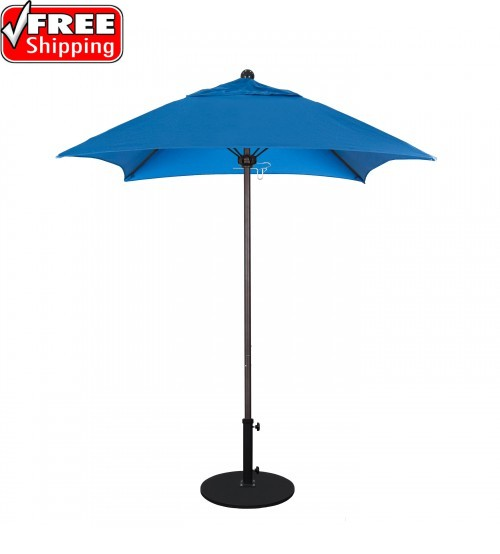 Venture Series 6' Square Fiberglass Commercial Grade Umbrella