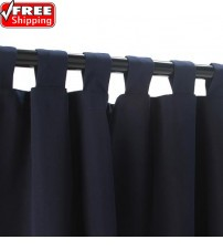 Sunbrella Outdoor Curtain With Tabs - Navy