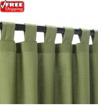 Sunbrella Outdoor Curtain With Tabs - Specrtum Cilantro