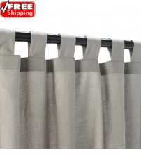 Sunbrella Outdoor Curtain With Tabs - Spectrum Dove