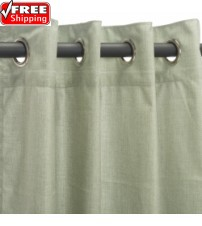 Sunbrella Outdoor Curtain with Nickel Grommets - Cast Oasis