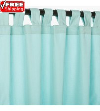Sunbrella Outdoor Curtain With Tabs - Glacier
