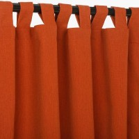 Sunbrella Outdoor Curtain With Tabs - Brick