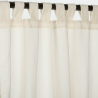 Sunbrella Outdoor Curtain With Tabs - Spectrum Eggshell