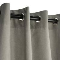 Sunbrella Outdoor Curtain with Nickle Grommets - Dove