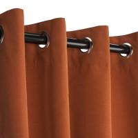 Sunbrella Outdoor Curtain with Nickel Grommets - Rust