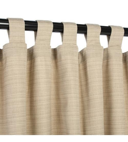 Sunbrella Outdoor Curtain With Tabs - Dupione Sand