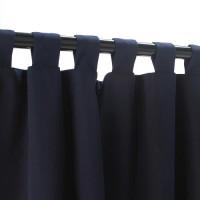 Sunbrella Outdoor Curtain With Tabs - Navy