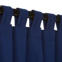Sunbrella Outdoor Curtain With Tabs - True Blue