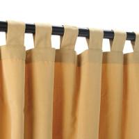 Sunbrella Outdoor Curtain With Tabs - Wheat