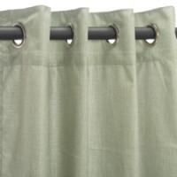 Sunbrella Outdoor Curtain with Nickel Grommets - Cast Oasis