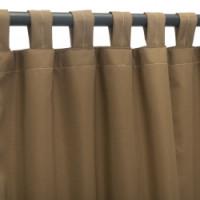 Sunbrella Outdoor Curtain with Tab Top - Canvas Cocoa