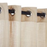 Sunbrella Outdoor Curtain with Nickel Grommets - Honey (SHEER)