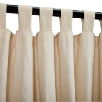 Sunbrella Outdoor Curtain with Tab Top - Honey (SHEER)