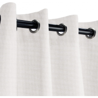 Sunbrella Outdoor Curtain with Stainless Steel Grommets - Canvas Canvas