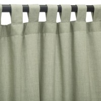 Sunbrella Outdoor Curtain with Tab Top - Cast Oasis