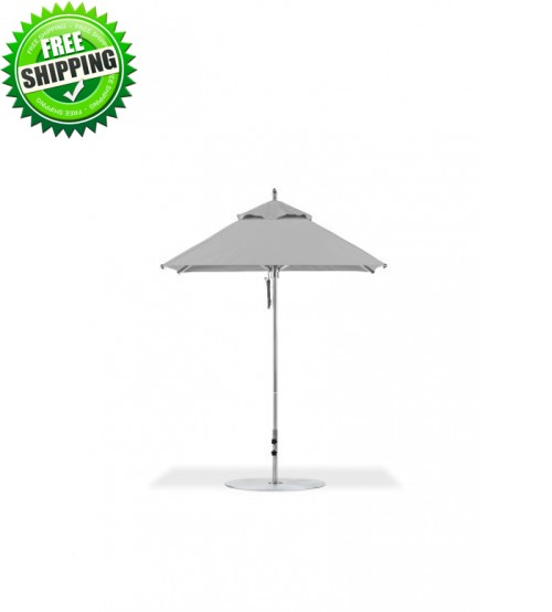 Greenwich Collection 6.5X6.5 Foot Square Aluminum Commercial Umbrella