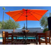 Monterey 8x10 FT Fiberglass Market Umbrella CRANK/AUTO TILT