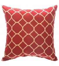 "Sunbrella 18""x18"" Square Throw Pillow - Accord II Crimson"