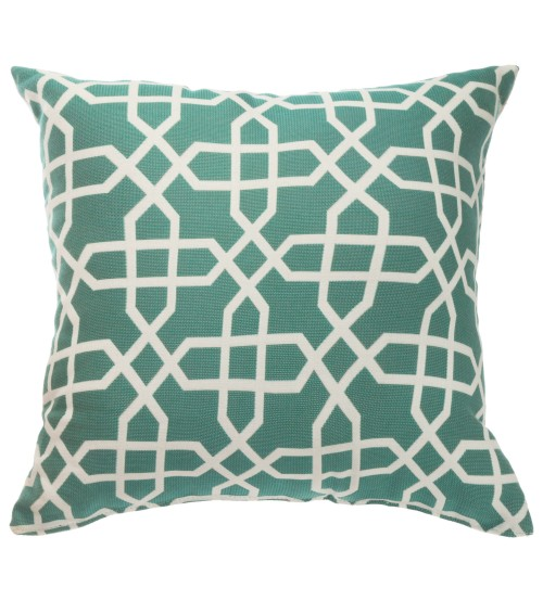 "Sunbrella 18""x18"" Square Throw Pillow -Bevel Lagoon"