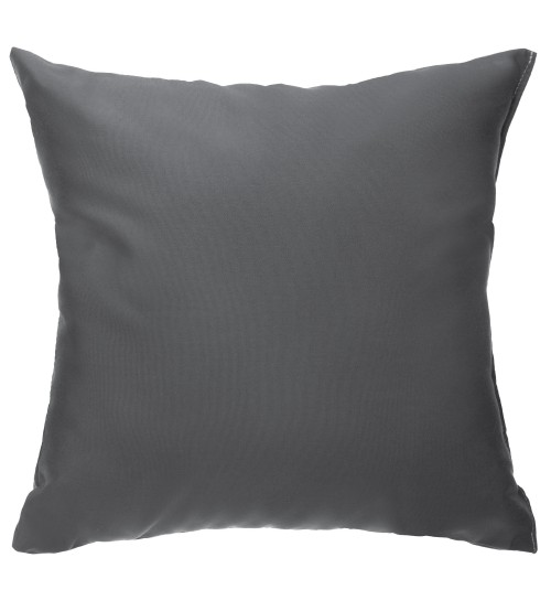 "Sunbrella 18""x18"" Square Throw Pillow - Canvas Charcoal"