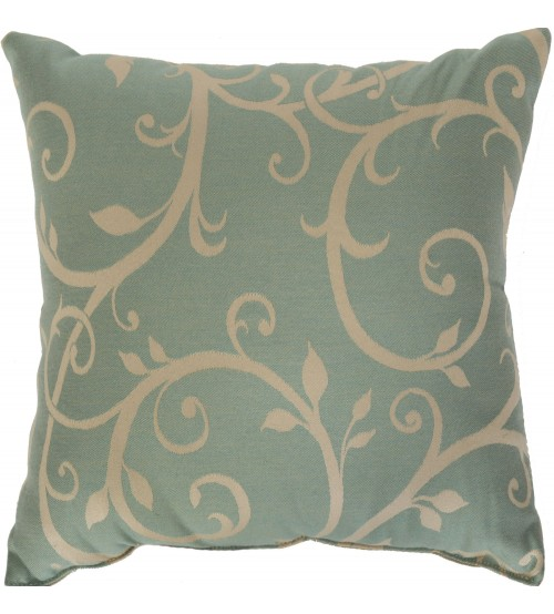 "Sunbrella 18""x18"" Square Throw Pillow - Cabaret Blue Haze"