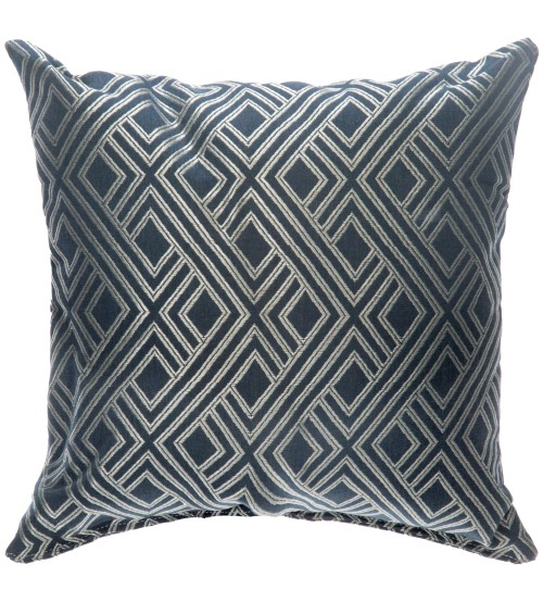 "Sunbrella 18""x18"" Square Throw Pillow - Integrated Indigo"