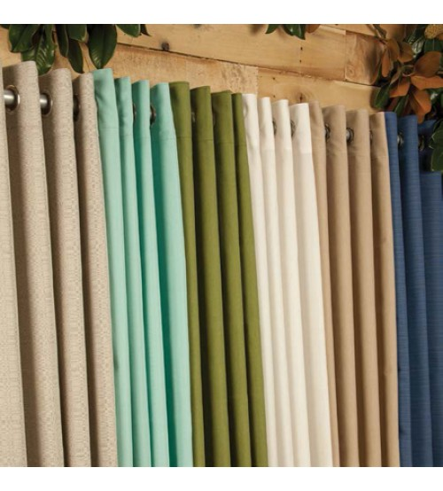 Sunbrella Outdoor Curtain with Nickel Grommets