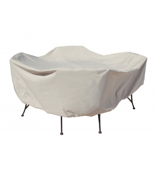 "Treasure Garden Protective Furniture Cover - 48"" Round Table and Chairs w/4 ties, elastic & spring cinch lock (no hole)"