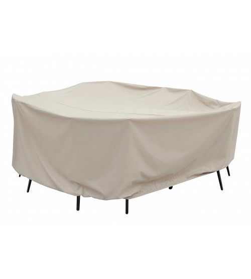 "Treasure Garden Protective Furniture Cover - 60"" Round Table and Chairs w/8 ties, elastic & spring cinch lock (no hole)"