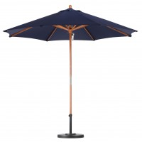 Sunline 9' Wood Market Umbrella