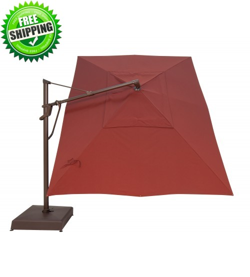 Treasure Garden 10' x 13' AKZPRT PLUS Cantilever Umbrella - O'bravia