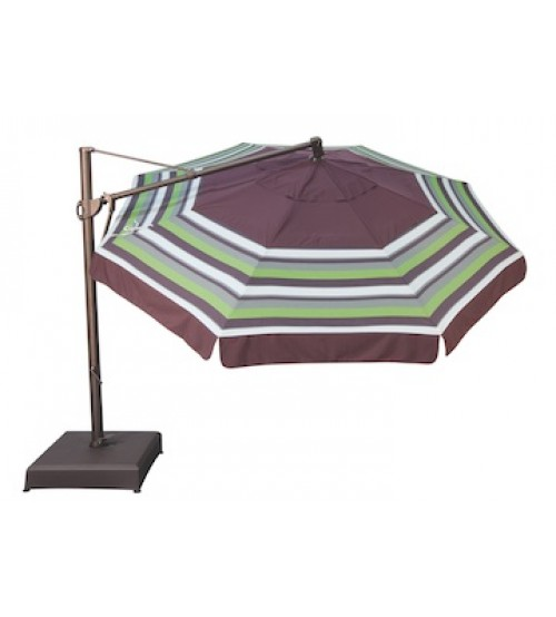 Treasure Garden 13' Octagon AKZ Cantilever Umbrella -  O'bravia Fabric (Polyester)