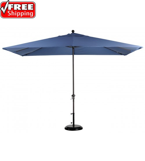 California Umbrella 11x8' Rectangular Market Umbrella - Sunbrella